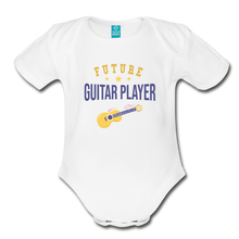 Load image into Gallery viewer, Future Guitar Player Baby Bodysuit - white
