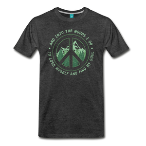 Men's Into the Woods I Go T-Shirt - charcoal gray