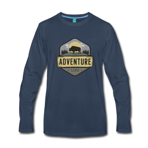 Men's Adventure Life Long Sleeve Shirt - navy