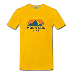 Mountain Life Shirt - sun yellow