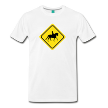 Load image into Gallery viewer, Men's Caution Dressage Horse T-Shirt - white