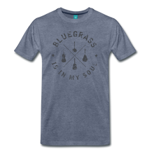 Load image into Gallery viewer, Men's Bluegrass is in my Soul T-Shirt - heather blue