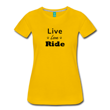 Load image into Gallery viewer, Women's Live Lover Ride T-Shirt - sun yellow