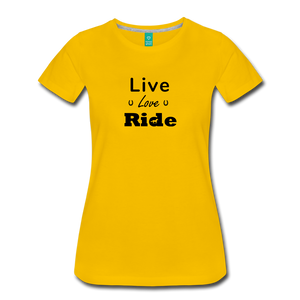 Women's Live Lover Ride T-Shirt - sun yellow