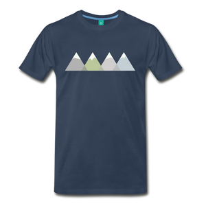 Men's Faded Mountains T-Shirt - navy