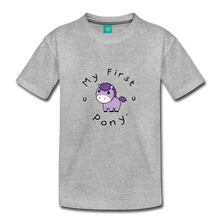 Load image into Gallery viewer, Toddler My First Pony T-Shirt (lilac patch) - heather gray