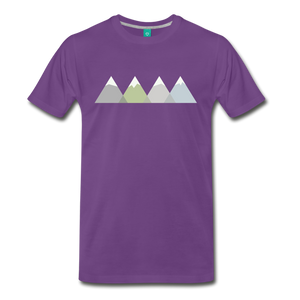 Men's Faded Mountains T-Shirt - purple
