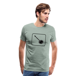 Men's Banjo Icon T-Shirt - steel green