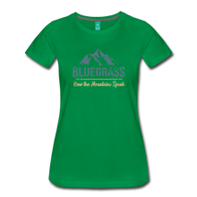 Load image into Gallery viewer, Women's Bluegrass Mountains Speak T-Shirt - kelly green