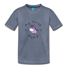 Load image into Gallery viewer, Toddler My First Pony T-Shirt (lilac patch) - heather blue