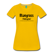 Load image into Gallery viewer, Women's Bluegrass Definition T-Shirt - sun yellow