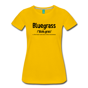 Women's Bluegrass Definition T-Shirt - sun yellow