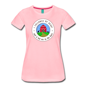 Women's Followed my Heart (colored) T-Shirt - pink