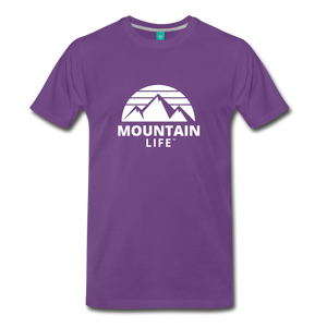 Men's Premium T-Shirt (white) - purple