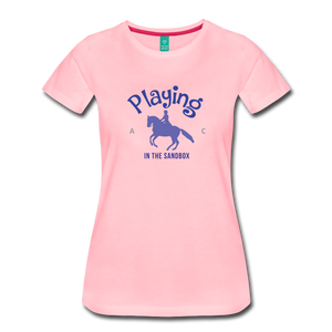 Women's Playing in the Sandbox T-Shirt - pink