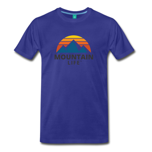 Mountain Life Shirt - royal blue