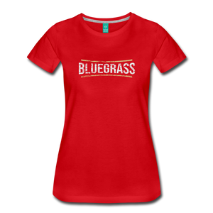 Women's Bluegrass T-Shirt - red