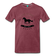 Load image into Gallery viewer, Men's Live to Ride T-Shirt - heather burgundy