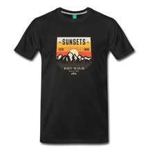 Load image into Gallery viewer, Men's Sunset T-Shirt - black