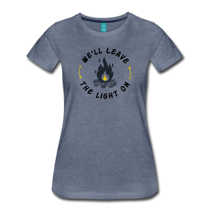 Women's We'll Leave the Light On T-Shirt - heather blue