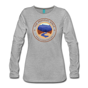 Women's The Pressley Girls Long Sleeve T-Shirt - heather gray