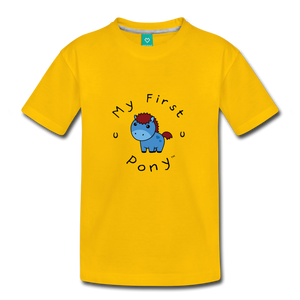 Toddler My First Pony T-Shirt (blue) - sun yellow
