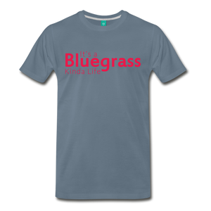 Men's Bluegrass Kinda Life T-Shirt - steel blue