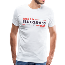 Load image into Gallery viewer, Men's Colored World Bluegrass Day T-Shirt - white