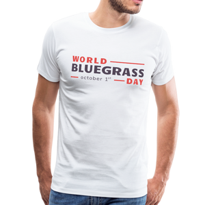 Men's Colored World Bluegrass Day T-Shirt - white