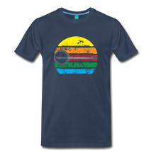 Load image into Gallery viewer, Men's Faded Banjo Rainbow T-Shirt - navy