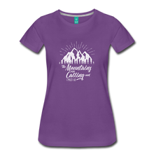Load image into Gallery viewer, Women's Mountains T-Shirt (white) - purple