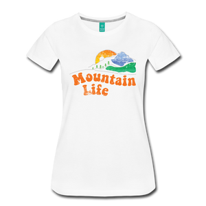 Women's 60s Mountain T-Shirt - white