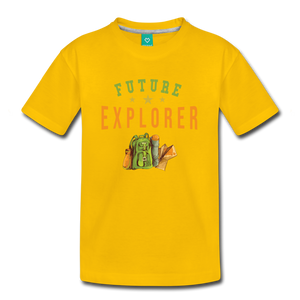 Kids' Future Explorer T-Shirt - sun yellow
