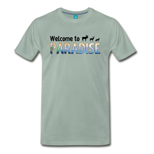 Load image into Gallery viewer, Men's Welcome to Paradise T-Shirt - steel green
