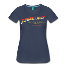 Load image into Gallery viewer, Women's Bluegrass Chosen Wisely T-Shirt - navy