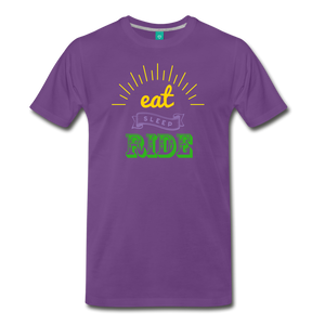 Men's Eat Sleep Ride T-Shirt - purple