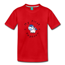 Load image into Gallery viewer, Toddler My First Pegasus T-Shirt (white/blue) - red