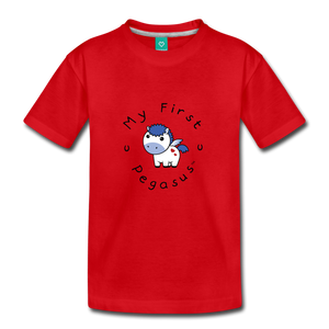 Toddler My First Pegasus T-Shirt (white/blue) - red