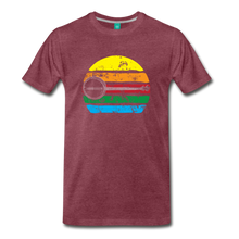 Load image into Gallery viewer, Men's Faded Banjo Rainbow T-Shirt - heather burgundy