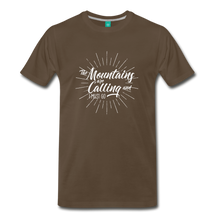 Load image into Gallery viewer, Men's Mountain Calling T-Shirt (white) - noble brown