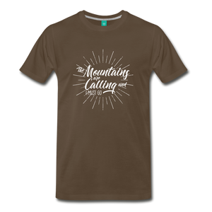 Men's Mountain Calling T-Shirt (white) - noble brown