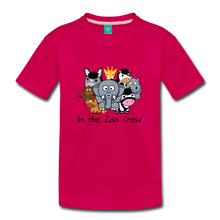 Load image into Gallery viewer, Kids' In the Zoo Crew T-Shirt - dark pink
