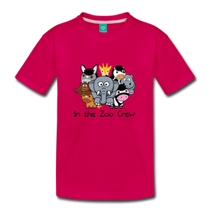 Kids' In the Zoo Crew T-Shirt - dark pink
