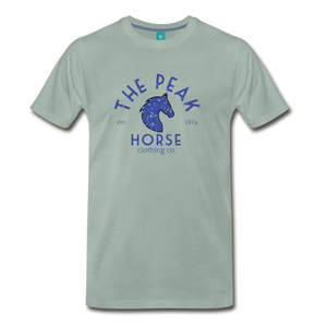 Men's The Peak Horse (art-deco) T-Shirt - steel green