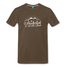 Load image into Gallery viewer, Men's Wanderlust T-Shirt (white) - noble brown