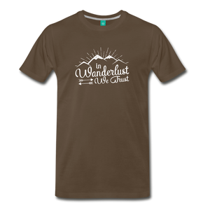 Men's Wanderlust T-Shirt (white) - noble brown