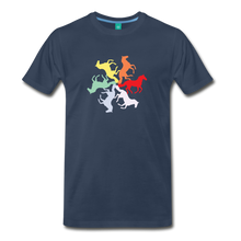 Load image into Gallery viewer, Men's Rainbow Horse Circle T-Shirt - navy