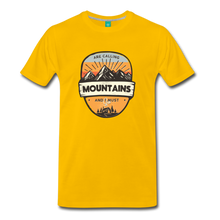 Load image into Gallery viewer, Men's Mountain's Calling T-Shirt - sun yellow