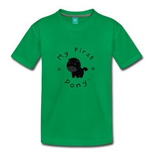 Load image into Gallery viewer, Toddler My First Pony T-Shirt (black) - kelly green
