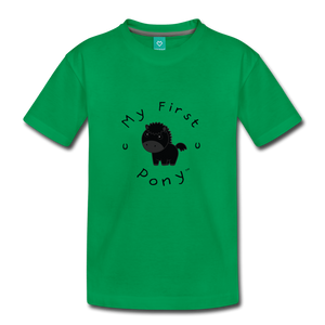 Toddler My First Pony T-Shirt (black) - kelly green